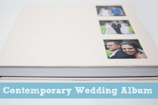 contemporary wedding album photobook