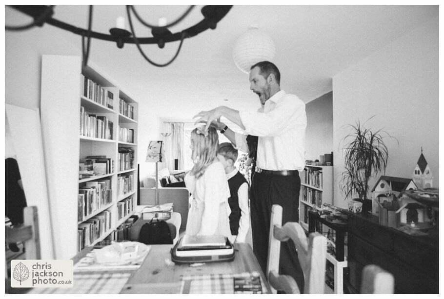 groom prep preparations getting ready kids children documentary york wedding photographer chris and hazel wedding photography