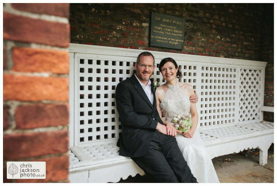bride groom portrait portraits bridal photograph photographs formal york university the quiet place wedding day weddings documentary york wedding photographer chris and hazel wedding photography
