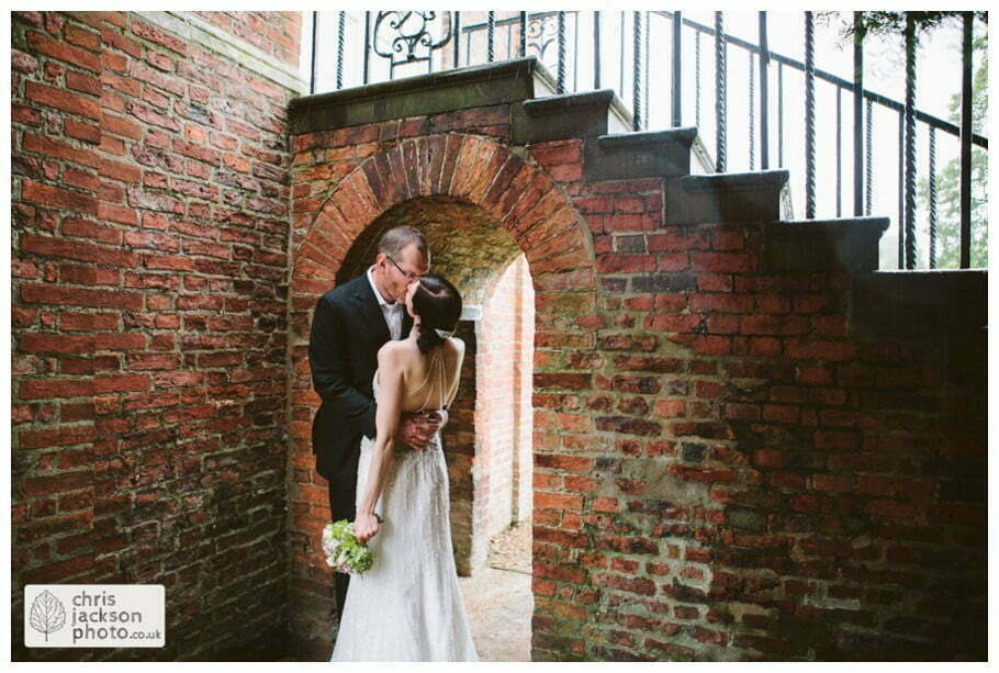 backless wedding dress bride groom portrait portraits bridal photograph photographs formal york university the quiet place wedding day weddings documentary york wedding photographer chris and hazel wedding photography
