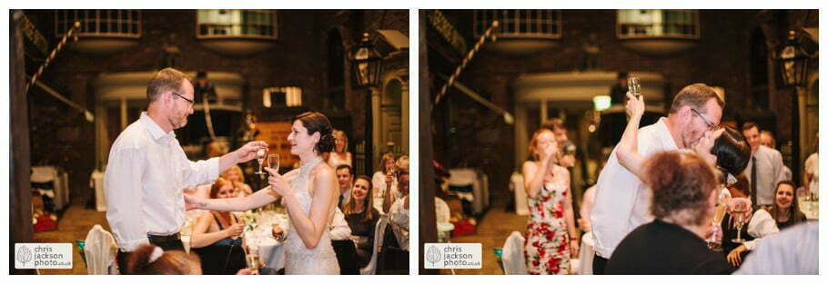groom speech bride kissing kisses groom wedding breakfast old victorian street set wedding venue york castle museum wedding photography wedding photographer York chris & hazel wedding photography