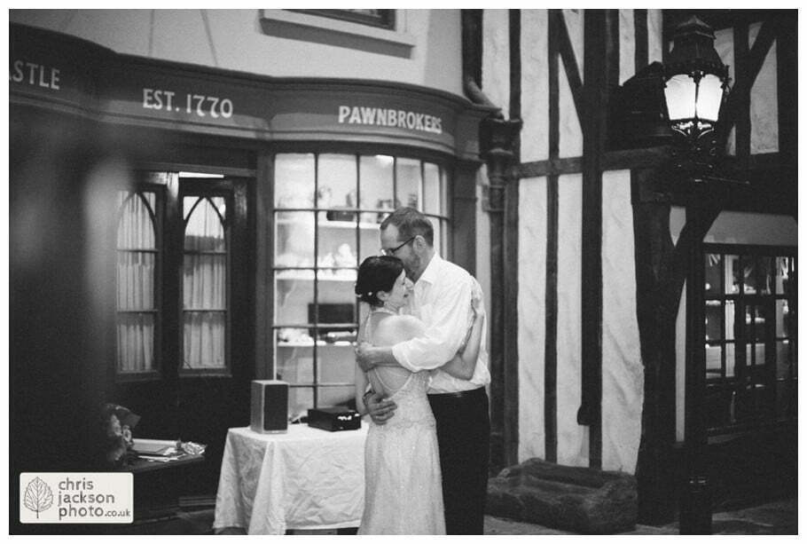 bride and groom first dance weddings york castle museum wedding photography wedding photographer Victorian street york chris & hazel wedding photography