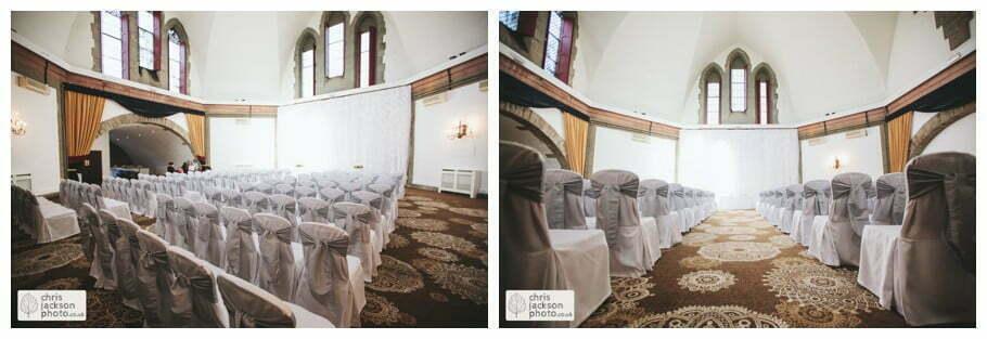 wedding ceremony in Tilden suite shrigley hall wedding venue Shrigley Hall Wedding Photography Cheshire by Chris & Hazel Nina Markarian Nina Kavanagh Joe Kavanagh