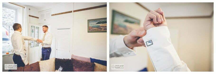 best man groom cufflinks documentary wedding day preparations groom getting ready diy vintage wedding glossop The venue at wimberry hill glossop wedding photography by Glossop wedding photographers chris and hazel natasha thorley jake rowarth