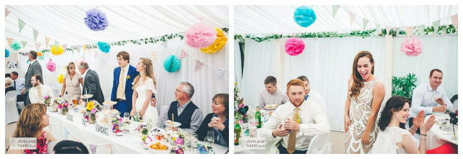 bride and groom judge baking competition great british bake off winners small trophy inside The venue at Wimberry hill wedding day diy vintage wedding glossop The venue at wimberry hill glossop wedding photography by Glossop wedding photographers chris and hazel natasha thorley jake rowarth