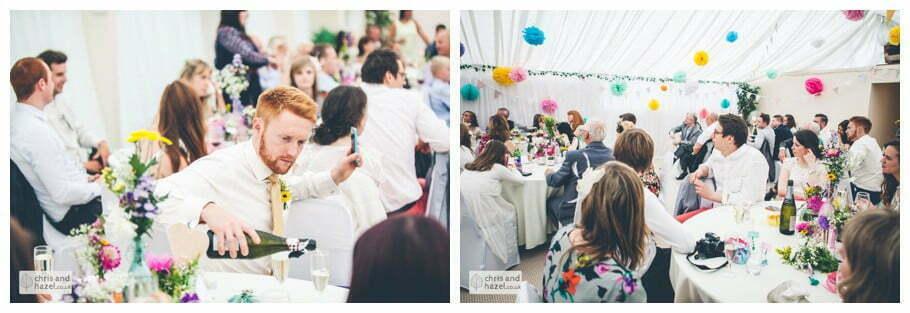 groom wedding speech inside The venue at Wimberry hill wedding day diy vintage wedding glossop The venue at wimberry hill glossop wedding photography by Glossop wedding photographers chris and hazel natasha thorley jake rowarth