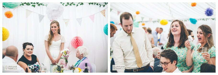 guests mingling before evening reception inside The venue at Wimberry hill wedding day diy vintage wedding glossop The venue at wimberry hill glossop wedding photography by Glossop wedding photographers chris and hazel natasha thorley jake rowarth