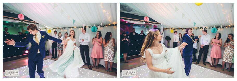 first dance bride dancing with groom evening reception dancing wedding party inside The venue at Wimberry hill wedding day diy vintage wedding glossop The venue at wimberry hill glossop wedding photography by Glossop wedding photographers chris and hazel natasha thorley jake rowarth
