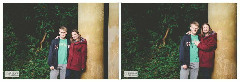 Rippon engagement photography wedding photographer Fountains Abbey yorkshire wedding photographer chris and hazel ruins couple water house ben charig frankie drummond
