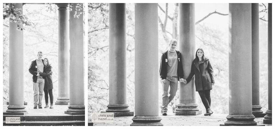 Rippon engagement photography wedding photographer Fountains Abbey yorkshire wedding photographer chris and hazel ruins couple the surprise view anne boelyns seat ben charig frankie drummond