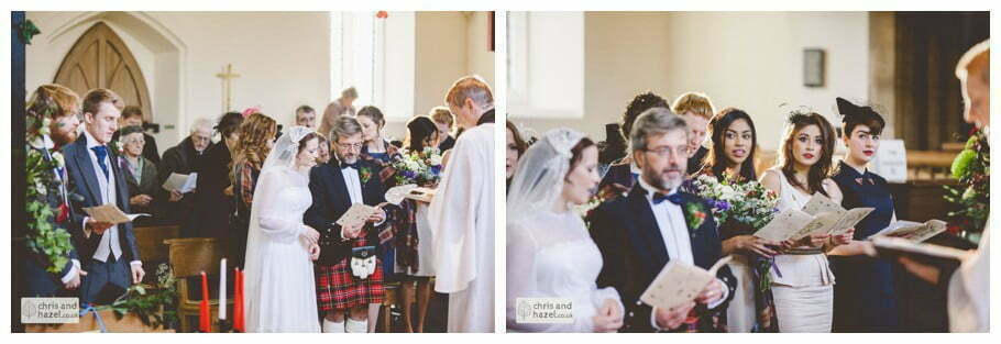 bride and groom at alter heslington church documentary wedding photography ben charig frankie drummond wedding photographer heslington church wedding york wedding photography wedding winter chris and hazel wedding photography york