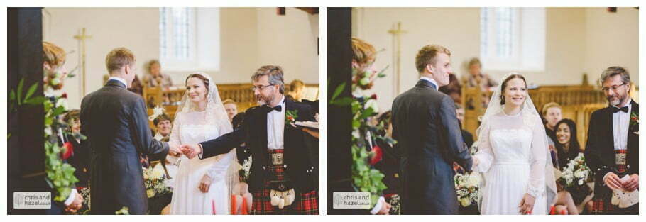 father of bride giving bride away heslington church documentary wedding photography ben charig frankie drummond wedding photographer heslington church wedding york wedding photography wedding winter chris and hazel wedding photography york