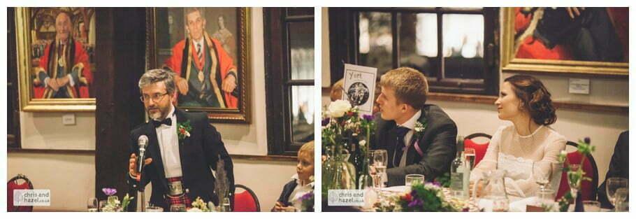 best man bestman speech ben charig frankie drummond merchant adventurers hall york wedding photography bride and groom christmas wedding winter chris and hazel wedding photography york