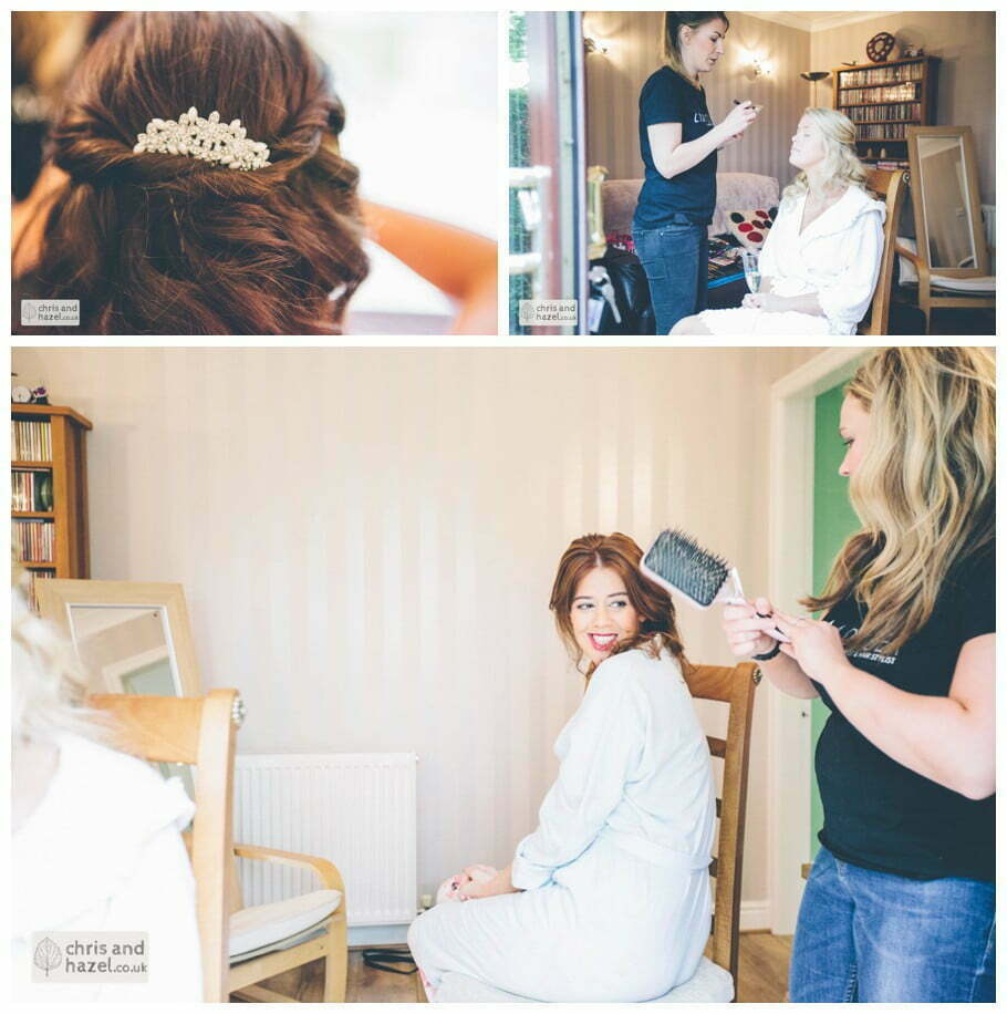 Bride preparations bridal prep getting ready hair make up Dewsbury Wedding Photographer Chris and Hazel Wedding Photography Steven Mountford Rachel Moore