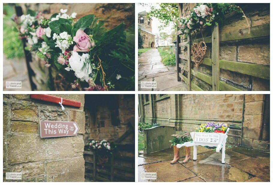 flowers Whitly Church wedding Dewsbury Wedding Photographer Whitly Chris and Hazel Wedding Photography Steven Mountford Rachel Moore