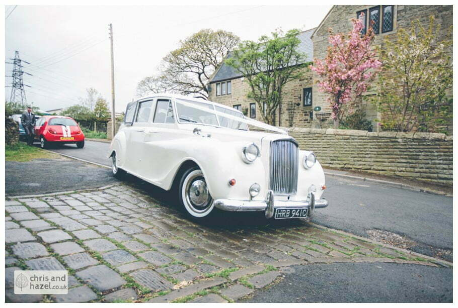 Indigo exec travel Austin Princess vanden plas 1961 wedding car Whitly Church wedding Dewsbury Wedding Photographer Whitly Chris and Hazel Wedding Photography Steven Mountford Rachel Moore