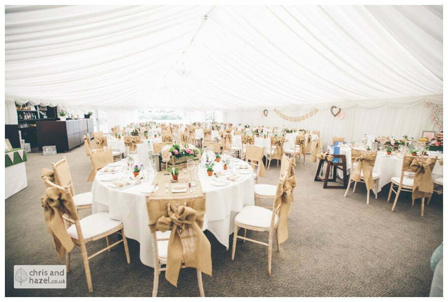 rustic hessian country vintage elegant wedding theme chair covers documentary wedding photography reception Woodlands hotel Wedding Photographer leeds wedding photography Chris and Hazel Wedding Photography Steven Mountford Rachel Moore