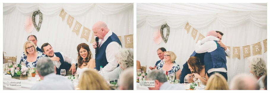 wedding speeches documentary wedding photography wedding guests reception Woodlands hotel Wedding Photographer leeds wedding photography Chris and Hazel Wedding Photography Steven Mountford Rachel Moore
