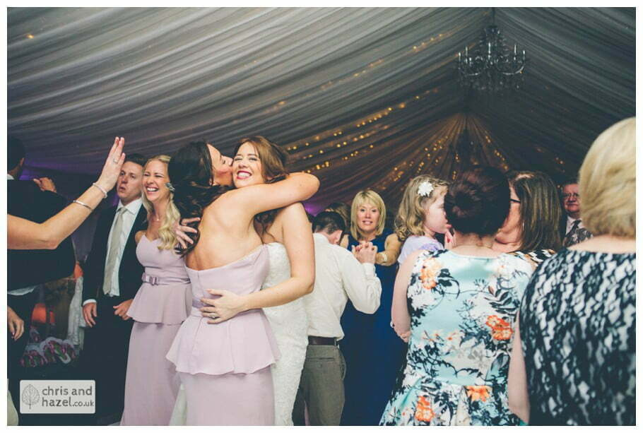 bride and groom first dance wedding guests dancing wedding reception documentary wedding photography Woodlands hotel Wedding Photographer leeds wedding photography Chris and Hazel Wedding Photography Steven Mountford Rachel Moore