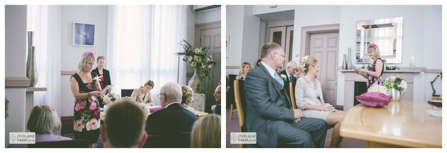 wedding ceremony in Leeds town hall wedding photography leeds town hall steps robin young clare robertson wedding