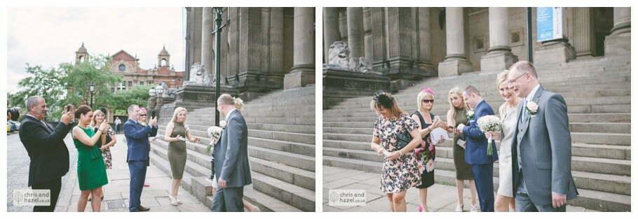 Leeds town hall wedding photography leeds town hall steps robin young clare robertson wedding