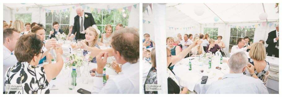 Father of bride speech in marquee gazebo english garden wedding Leeds wedding photography leeds robin young clare robertson wedding