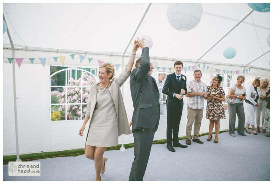 first dance in marquee gazebo english garden wedding Leeds wedding photography leeds robin young clare robertson wedding