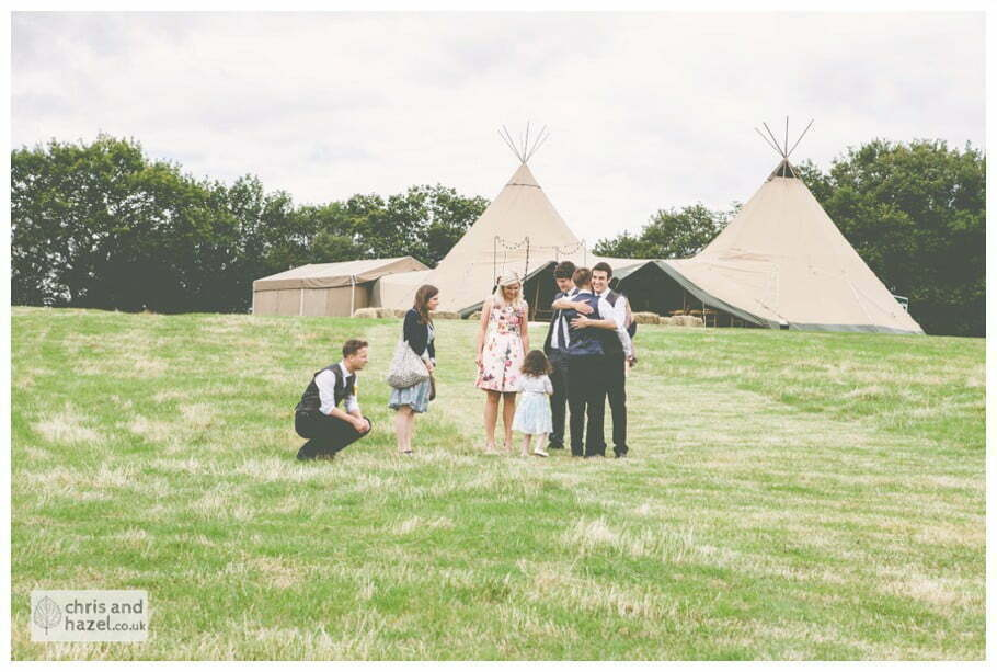 wedding ceremony papkata teepee tipi documentary Wedding Photographer Harrogate Wedding Photography Braisty Estate by Chris and Hazel Wedding Photography Jonny Dunn Stef Brown
