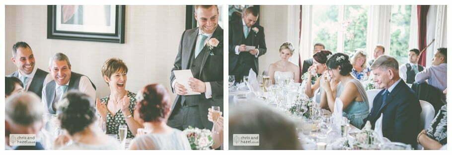 groom wedding speeches documentary Sheffield Wedding Photographer Kenwood Hall Wedding Photography Sheffield by Chris and Hazel Wedding Photography Glen Briddock Emily Shaw