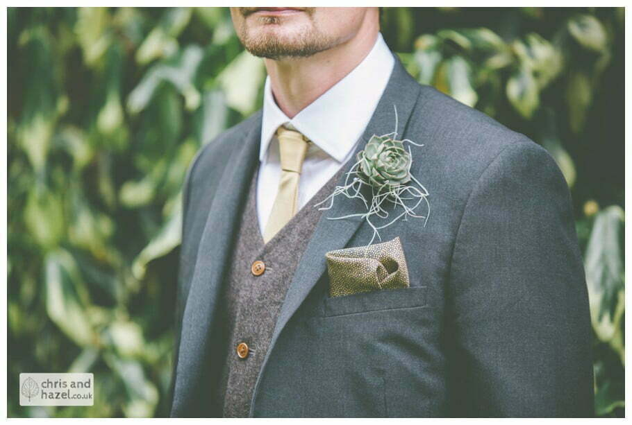 groom suit waistcoat wool detail documentary Hull Wedding Photographer Bishop Burton College Wedding Photography Hull by Chris and Hazel Wedding Photography Ross laurelin Matulis