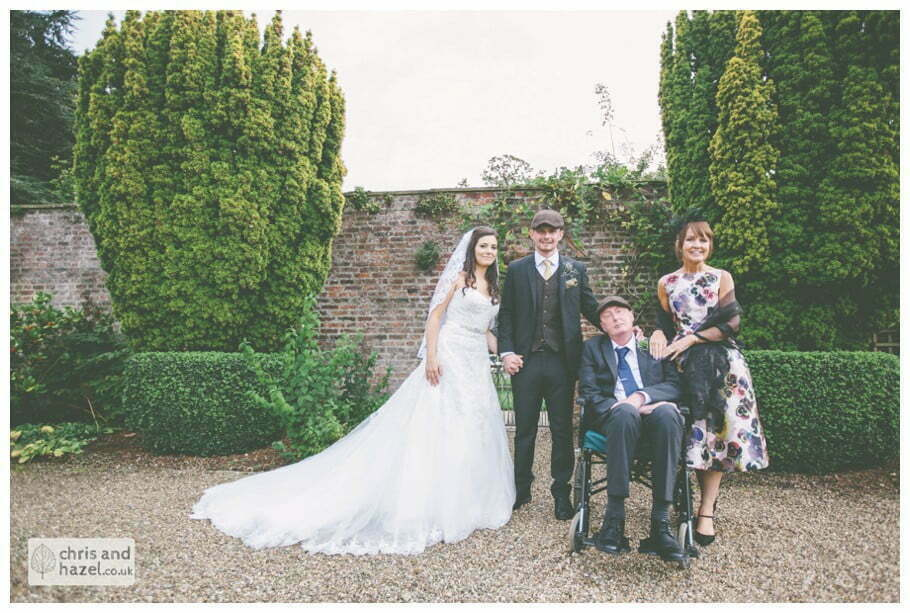 bride groom grooms parents formal portrait documentary Hull Wedding Photographer Bishop Burton College Wedding Photography Hull by Chris and Hazel Wedding Photography Ross laurelin Matulis