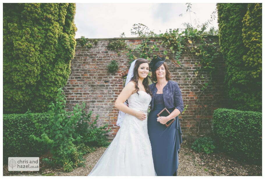 bride with mother of the bride formal portrait documentary Hull Wedding Photographer Bishop Burton College Wedding Photography Hull by Chris and Hazel Wedding Photography Ross laurelin Matulis