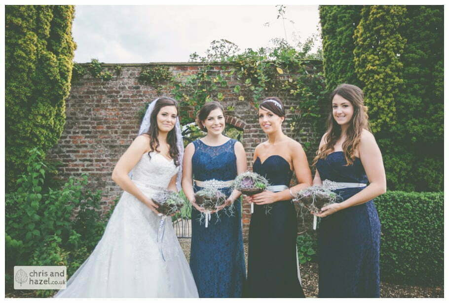 bride with bridesmaids formal portrait documentary Hull Wedding Photographer Bishop Burton College Wedding Photography Hull by Chris and Hazel Wedding Photography Ross laurelin Matulis