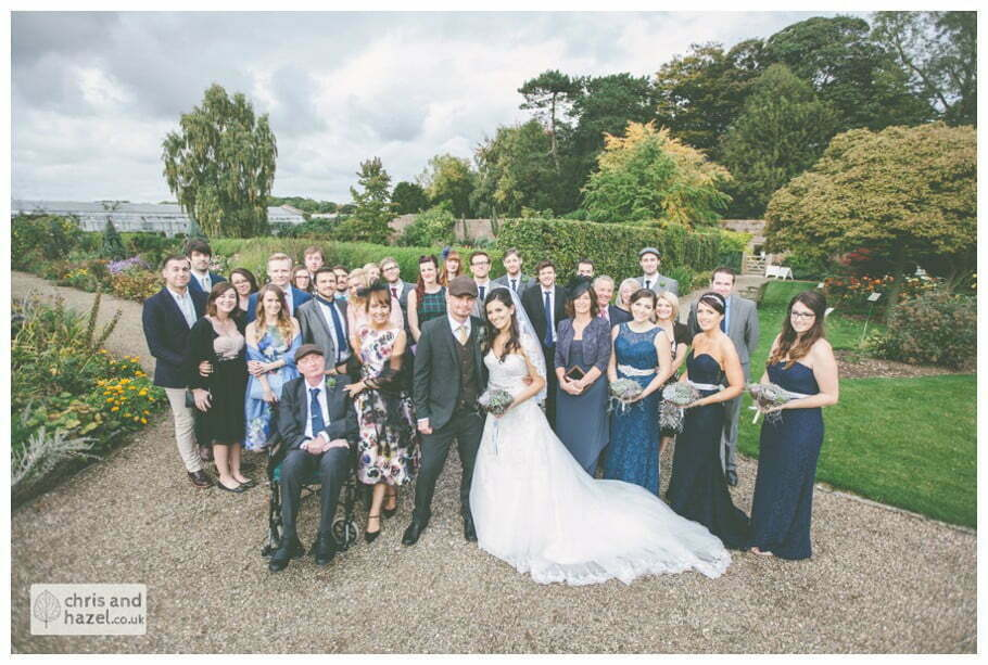 wedding party all wedding guests formal portrait documentary Hull Wedding Photographer Bishop Burton College Wedding Photography Hull by Chris and Hazel Wedding Photography Ross laurelin Matulis