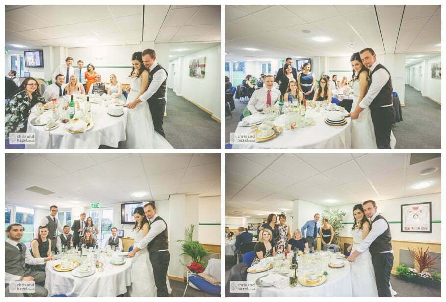 bride and groom cutting cake documentary Hull Wedding Photographer Bishop Burton College Wedding Photography Hull by Chris and Hazel Wedding Photography Ross laurelin Matulis