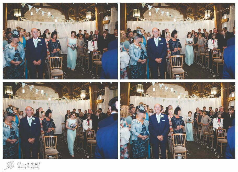 wedding ceremony, barn, documentary wedding photography, Keighley ,Wedding Photographer, East Riddlesden Hall, Wedding Photography, Chris and Hazel Wedding Photography, Craig beasley, Stephanie Stubbs,