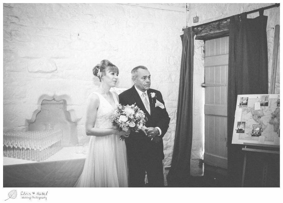 father of bride, bride and father, proud father wedding day, wedding ceremony, barn, documentary wedding photography, Keighley ,Wedding Photographer, East Riddlesden Hall, Wedding Photography, Chris and Hazel Wedding Photography, Craig beasley, Stephanie Stubbs,