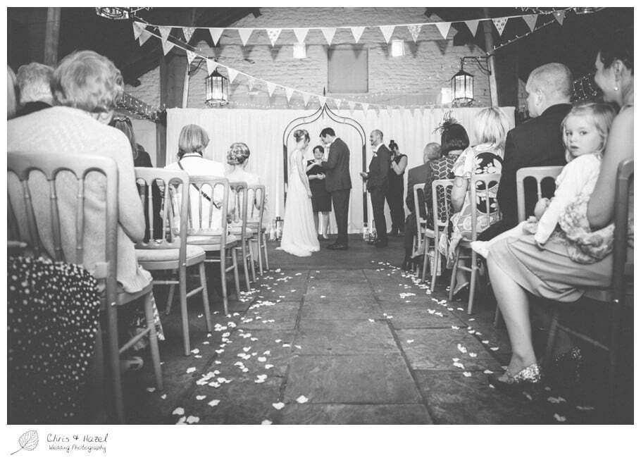 bride and groom, vows, wedding ceremony, barn, documentary wedding photography, Keighley ,Wedding Photographer, East Riddlesden Hall, Wedding Photography, Chris and Hazel Wedding Photography, Craig beasley, Stephanie Stubbs,