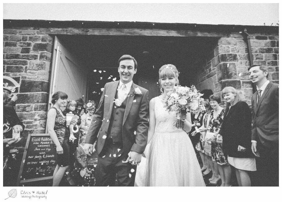 bride, groom bride and groom, confetti, documentary wedding photography, Keighley ,Wedding Photographer, East Riddlesden Hall, Wedding Photography, Chris and Hazel Wedding Photography, Craig beasley, Stephanie Stubbs,