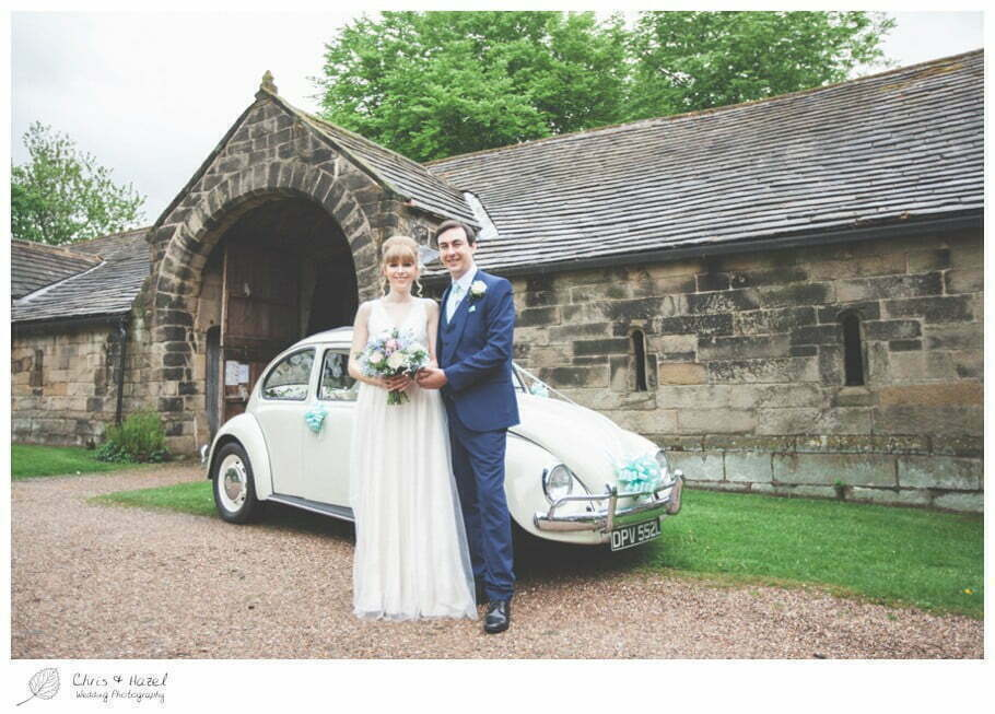 bride and groom, wedding car, vw beetle, vw i300, volkswagen beetle wedding car, documentary wedding photography, Keighley ,Wedding Photographer, East Riddlesden Hall, Wedding Photography, Chris and Hazel Wedding Photography, Craig beasley, Stephanie Stubbs,