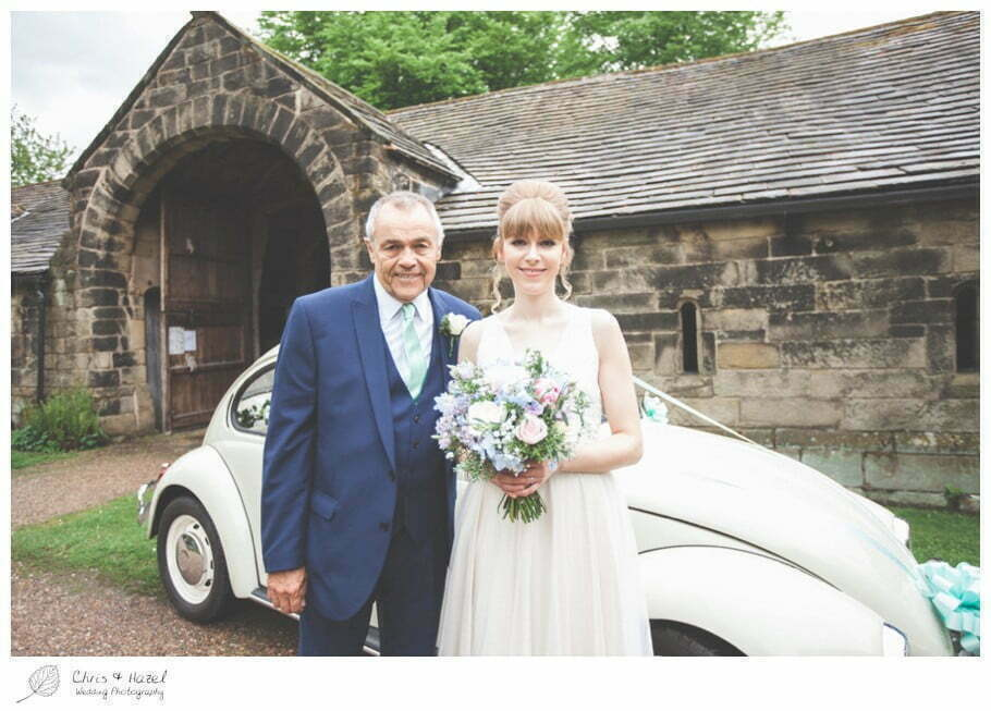 bride with father of bride, bride, father of bride, documentary wedding photography, Keighley ,Wedding Photographer, East Riddlesden Hall, Wedding Photography, Chris and Hazel Wedding Photography, Craig beasley, Stephanie Stubbs,