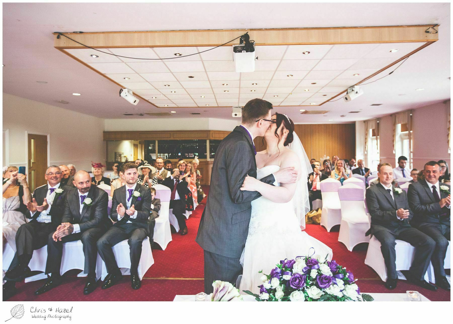first kiss, bagden hall wedding venue, documentary wedding photography, denny dale, huddersfield, Wedding Photographer, Bagden Hall, Wedding Photography, Chris and Hazel Wedding Photography, Alex tomenson, Vicky hunt
