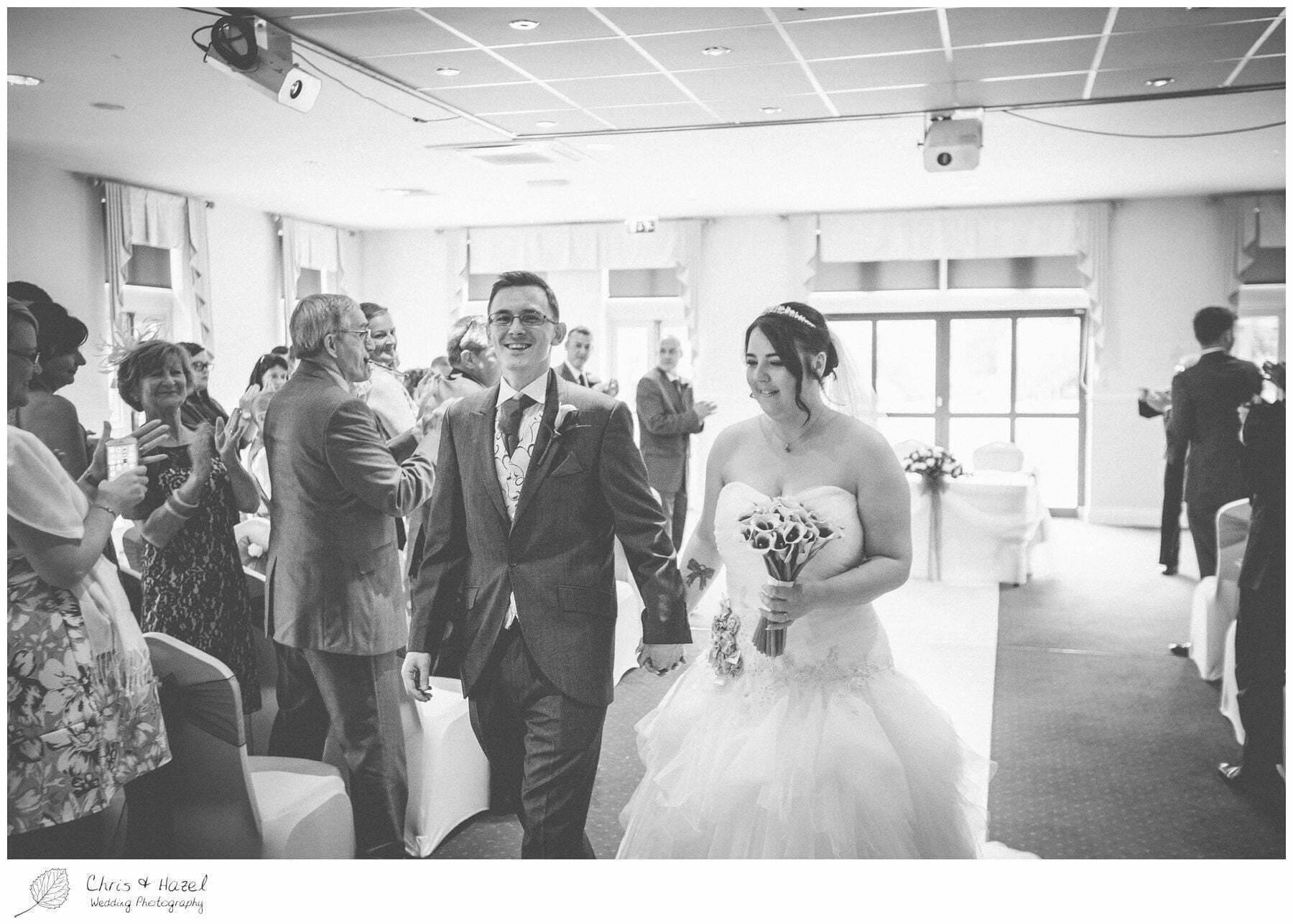 bride and from walking up the aisle, bagden hall wedding venue, documentary wedding photography, denny dale, huddersfield, Wedding Photographer, Bagden Hall, Wedding Photography, Chris and Hazel Wedding Photography, Alex tomenson, Vicky hunt