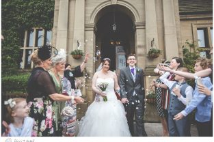 bride and groom confetti shot, confetti, bagden hall wedding venue, documentary wedding photography, denny dale, huddersfield, Wedding Photographer, Bagden Hall, Wedding Photography, Chris and Hazel Wedding Photography, Alex tomenson, Vicky hunt