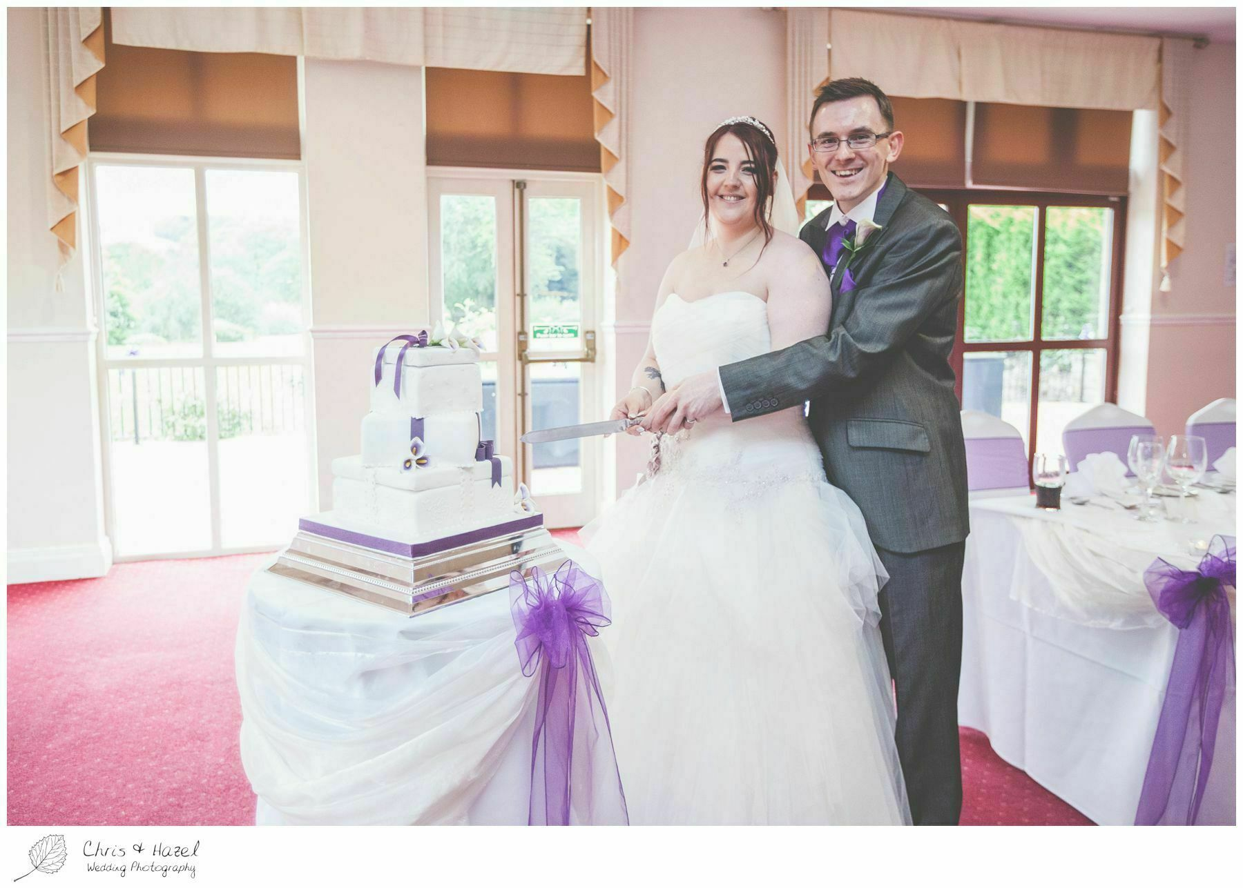 bride and groom cake cutting, bagden hall wedding venue, documentary wedding photography, denny dale, huddersfield, Wedding Photographer, Bagden Hall, Wedding Photography, Chris and Hazel Wedding Photography, Alex tomenson, Vicky hunt