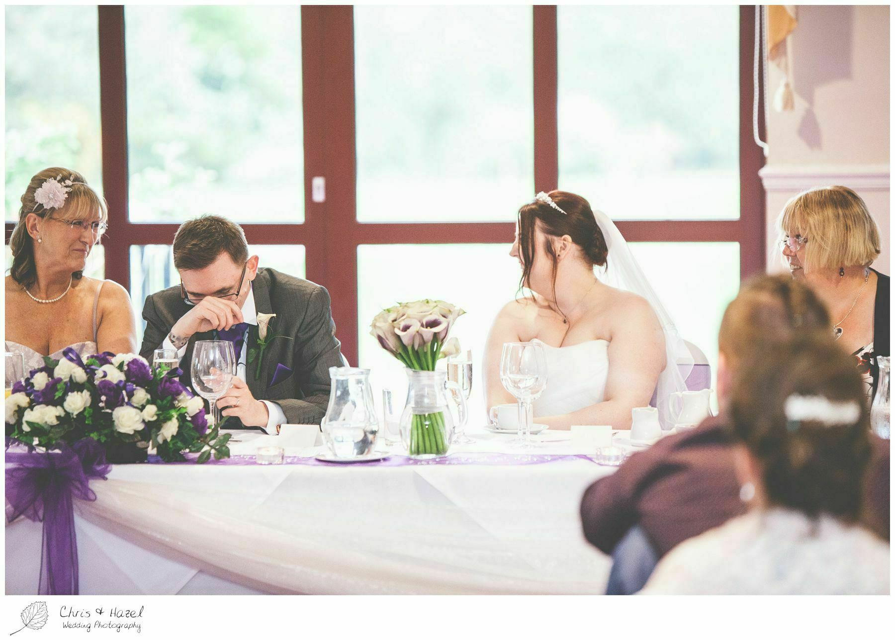 wedding speech reaction, bagden hall wedding venue, documentary wedding photography, denny dale, huddersfield, Wedding Photographer, Bagden Hall, Wedding Photography, Chris and Hazel Wedding Photography, Alex tomenson, Vicky hunt