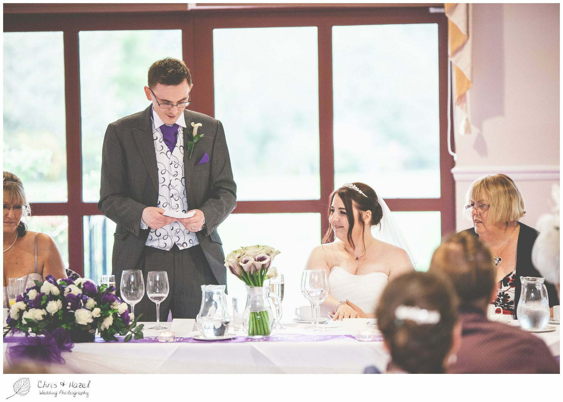 groom wedding speech, bagden hall wedding venue, documentary wedding photography, denny dale, huddersfield, Wedding Photographer, Bagden Hall, Wedding Photography, Chris and Hazel Wedding Photography, Alex tomenson, Vicky hunt