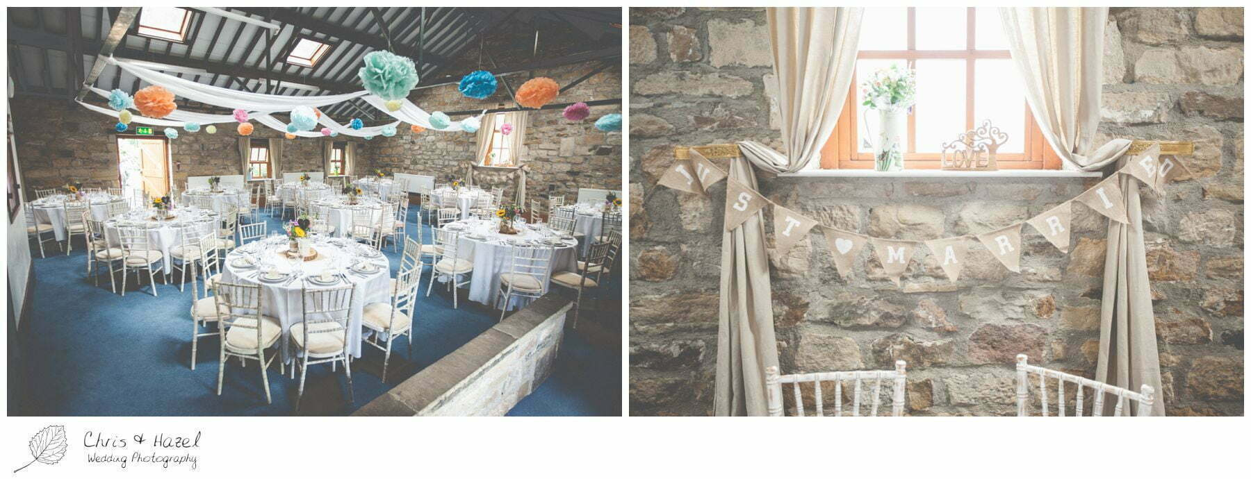 mr & mrs hessian bunting , eco wedding, love letters, wedding, Eccup Wedding Photographer, Lineham Farm, Wedding Photography Leeds, Chris and Hazel Wedding Photography, Richard Wyatt, Laura Kelly