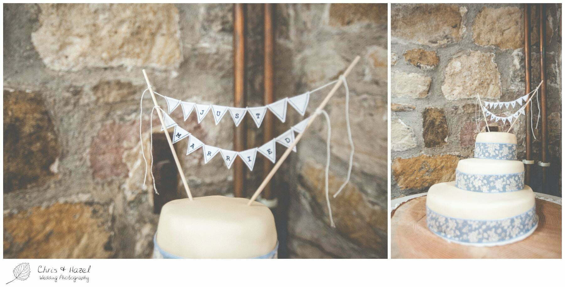 wedding cake bunting, wedding cake name banner, eco wedding, love letters, wedding, Eccup Wedding Photographer, Lineham Farm, Wedding Photography Leeds, Chris and Hazel Wedding Photography, Richard Wyatt, Laura Kelly