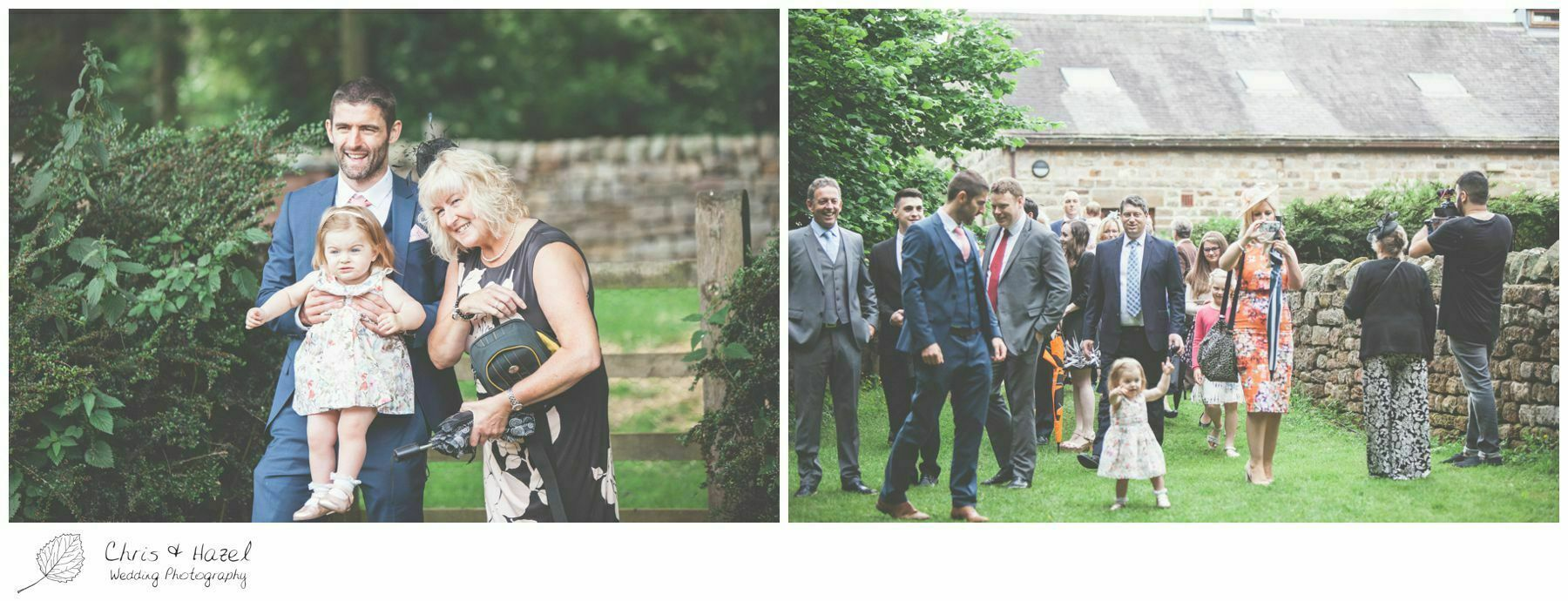 documentary wedding photography, guests mingling, woodland wedding, eco wedding, love letters, wedding, Eccup Wedding Photographer, Lineham Farm, Wedding Photography Leeds, Chris and Hazel Wedding Photography, Richard Wyatt, Laura Kelly